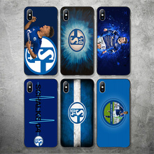 цена на Yinuoda Phone Case Schalke 04 FC For Apple iphone DIY Picture Black Soft TPU For iPhone X XR XS MAX 7 8 7plus 6 6S 5S 5C 5 SE