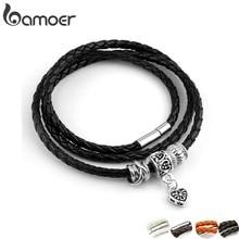 Neueste Ankunft Silber Überzogene Charme Schwarz Leder Armband für Frauen Fünf Farben Magnet Verschluss Weihnachten Geschenk Schmuck PI0311