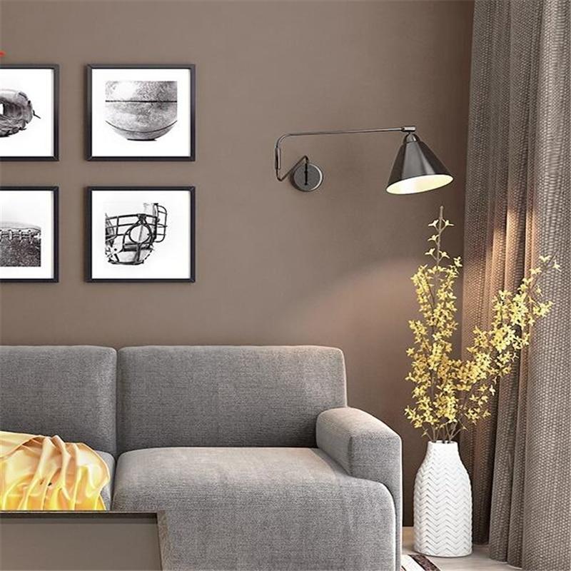 Wellyu brun papier peint salon chambre non-tissé moderne minimaliste couleur pure fond papier peint papel de parede