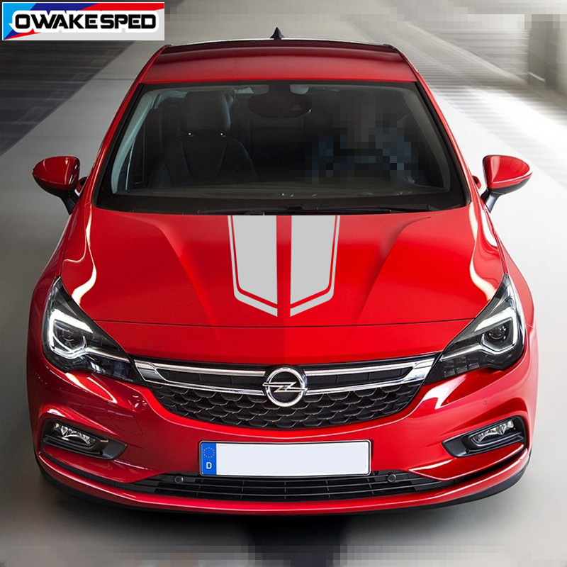 1 Set Car Bonnet Stripes For Opel Astra GTC OPC 3-5 Doors Racing Sport Hood Engine Cover Stickers Auto Body Decor Decals