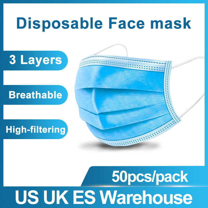 200/500 Pcs Disposable Mask Men Women Cotton Anti Dust Mask  Windproof Mouth-muffle Bacteria Proof Flu Face Masks Fast Delivery