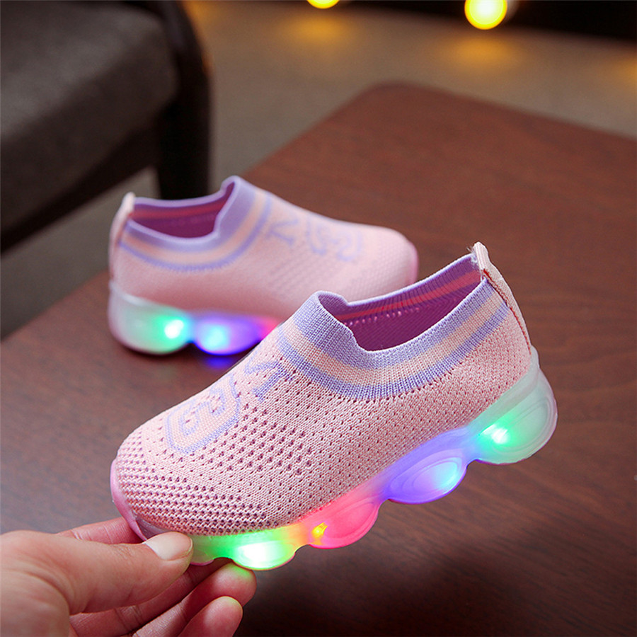 Glowing shoes colorful girls LED luminous laces flashing lights shoes kids sneakers lights boys sport shoes kids 40J24 (10)
