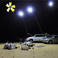 High power 224LEDs x4 boards COB 12V LED Telescopic Fishing Rod Outdoor Lantern Camping Light for Road Trip