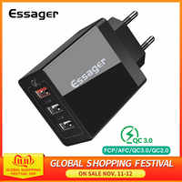 Essager 30W Charge rapide 3.0 Multi Port USB chargeur QC3.0 Charge rapide Turbo chargeur mural pour iPhone 11 Pro Max Xiao mi 9 9t