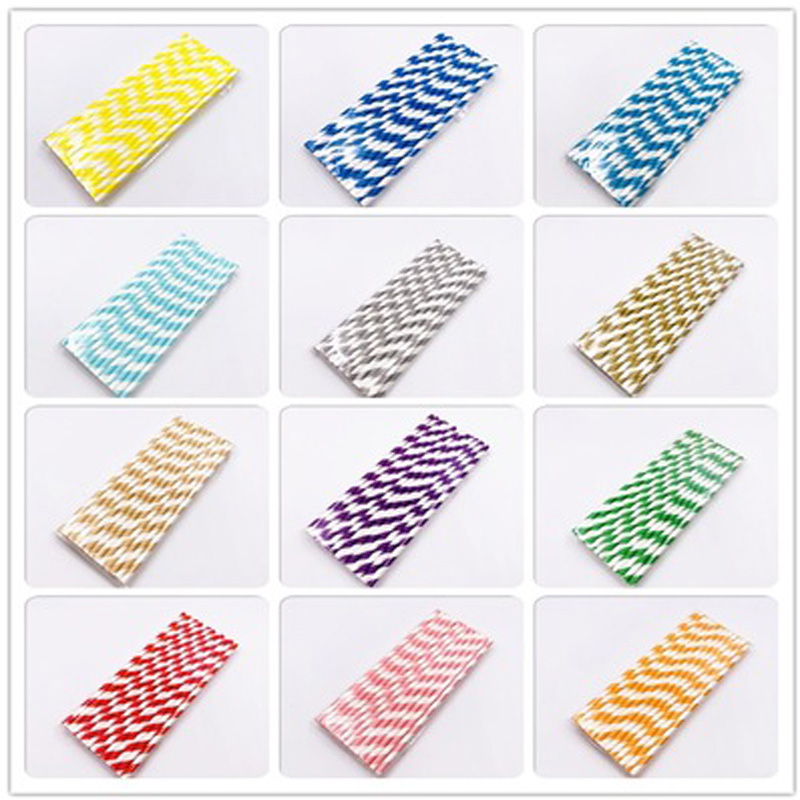 25 Pcs//Set Biodegradable Colorful Paper Drinking Straws For Wedding Birthday Bar