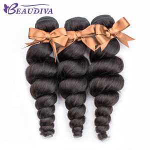 BEAUDIVA малазийские волосы, волнистые пучки, натуральные черные 1/3/4 шт./лот, 100% человеческие пучки волос, волосы для наращивания без повреждени...