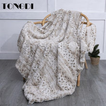 TONGDI Plush Velveteen Blanket Soft Warm Leopard Thickened Fannel Fleece Woolen For Girl Winter Couch Cover Bed Sofa Bedspread
