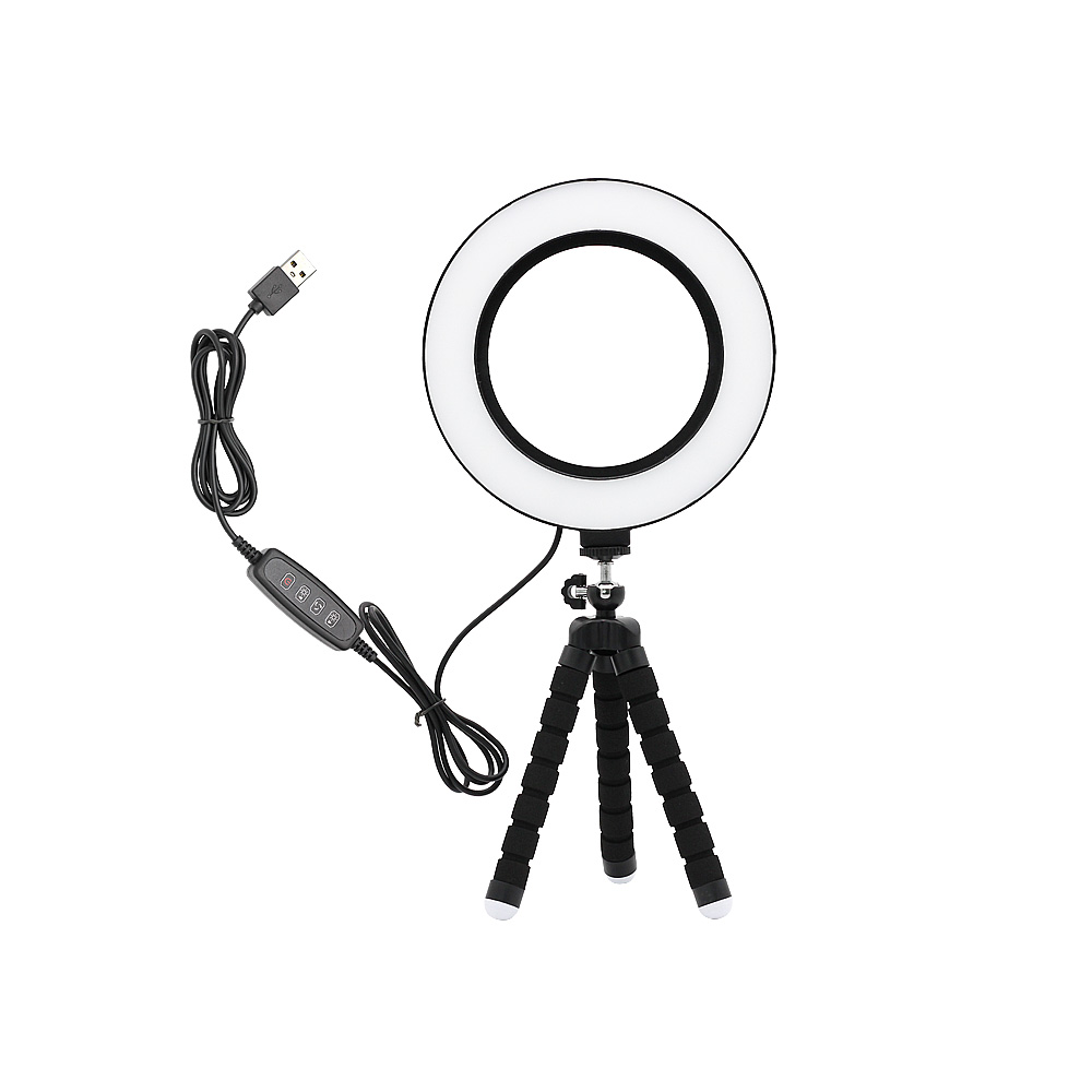 New Photography Dimmable LED Selfie Ring Light Makeup Photo Studio Lamp For Video VK Live Show With USB Plug Table Tripod Stand