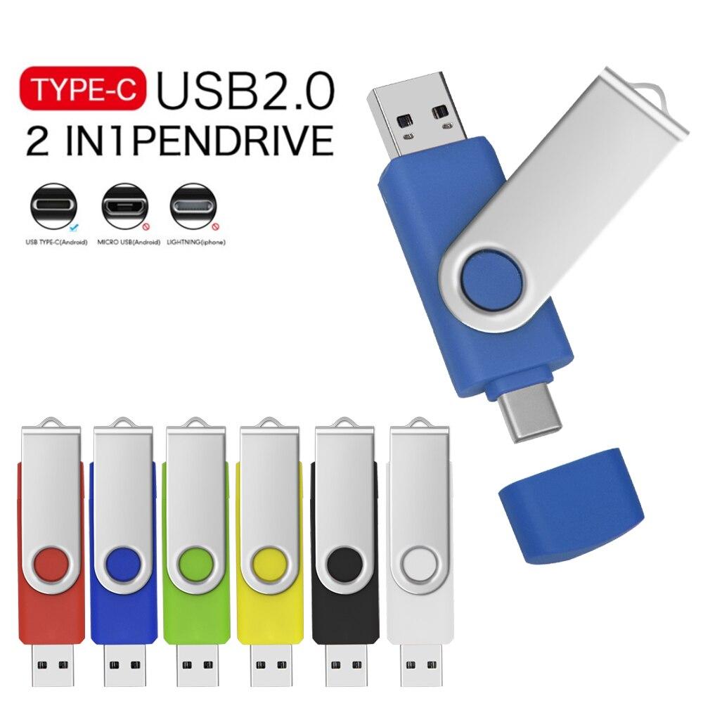 Многофункциональный ОТГ 3 в 1 USB type-c usb флеш-накопитель 128 ГБ cle USB флэш-накопител флешки 8/16/32/64 ГБ флэш-накопитель для телефона