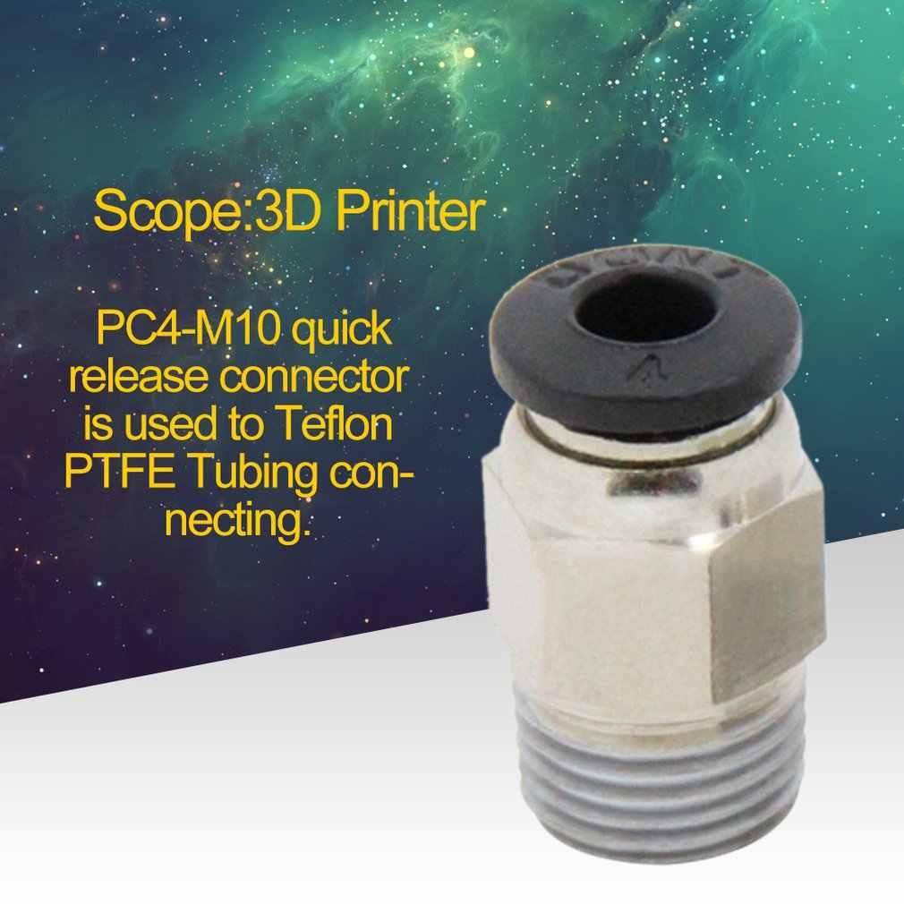 Cho V6 3D Máy In Kim Loại Thẳng Teflon Ống Đẩy Nhanh Chóng Phát Hành Lắp Cổng Kết Nối Được Sử Dụng Để Teflon PTFE Ống kết Nối