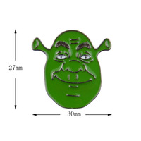 100pcs Wholesale Shrek Cartoon Badge Brooches Jackets Bag Jewelry Button Badges Gifts