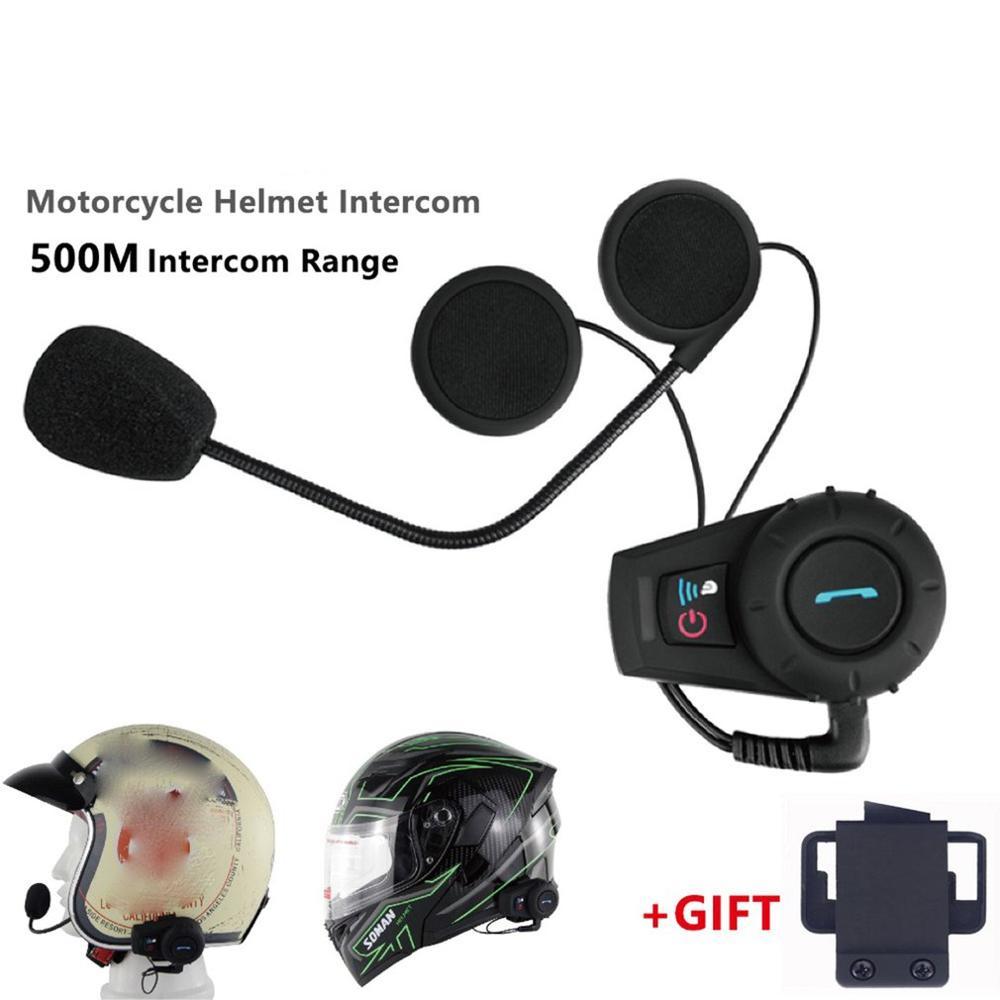 New EU Plug Motorcycle Helmet 500M Walkie Talkie Headset Helmet Wireless Headset Headphones Helmet Walkie Talkie System