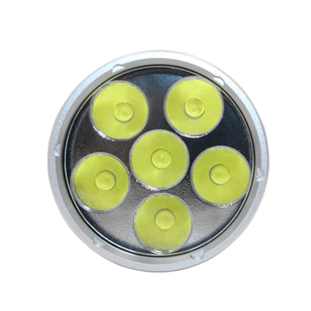 Super lumineux XHP70.2 LED lampe torche de plongée 26650 32650 Waterpoof 100m sous marin 10000lm plongée 6 * xhp70. 2 lampe de plongée - 6