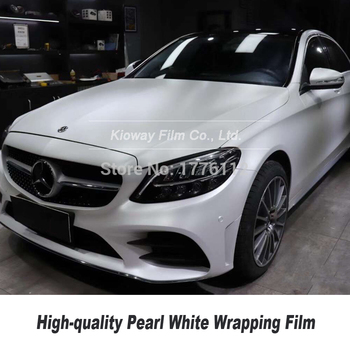 High-quality series Air free bubbles Matte satin pearl white wrapping film  car wrap vinyl  low initial tack adhesive