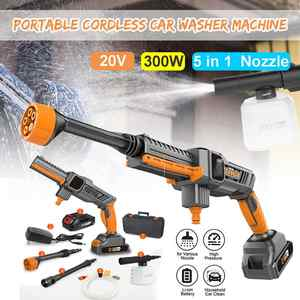 Nozzle Hose-Pump Car-Washer-Machine Lance-Battery Foam Electric-Water-Guns Cordless Rechargable
