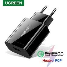 Ugreen Телефона Qualcomm Быстрая Зарядка 3.0 18 Вт Быстрое Зарядное Устройство USB(быстрая Зарядка 2.0 Совместимый) для Samsung Xiaomi 5 Huawei lg
