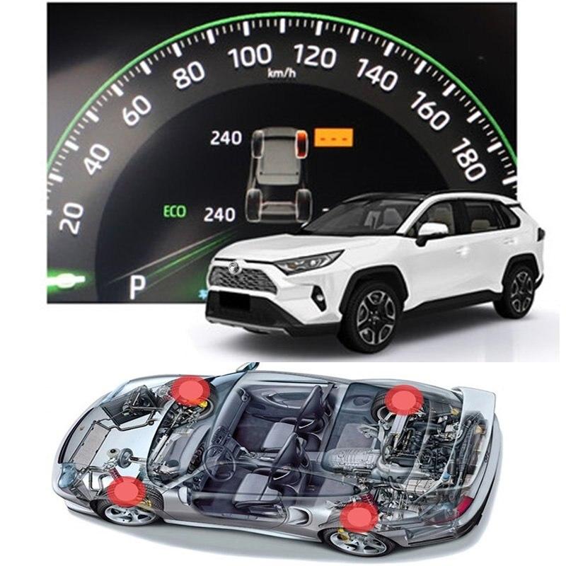 עבור טויוטה Rav4 2019 2020 Xa50 חכם רכב TPMS צמיג לחץ ניטור מערכת דיגיטלית LCD דאש לוח תצוגת אוטומטי אבטחה מעורר