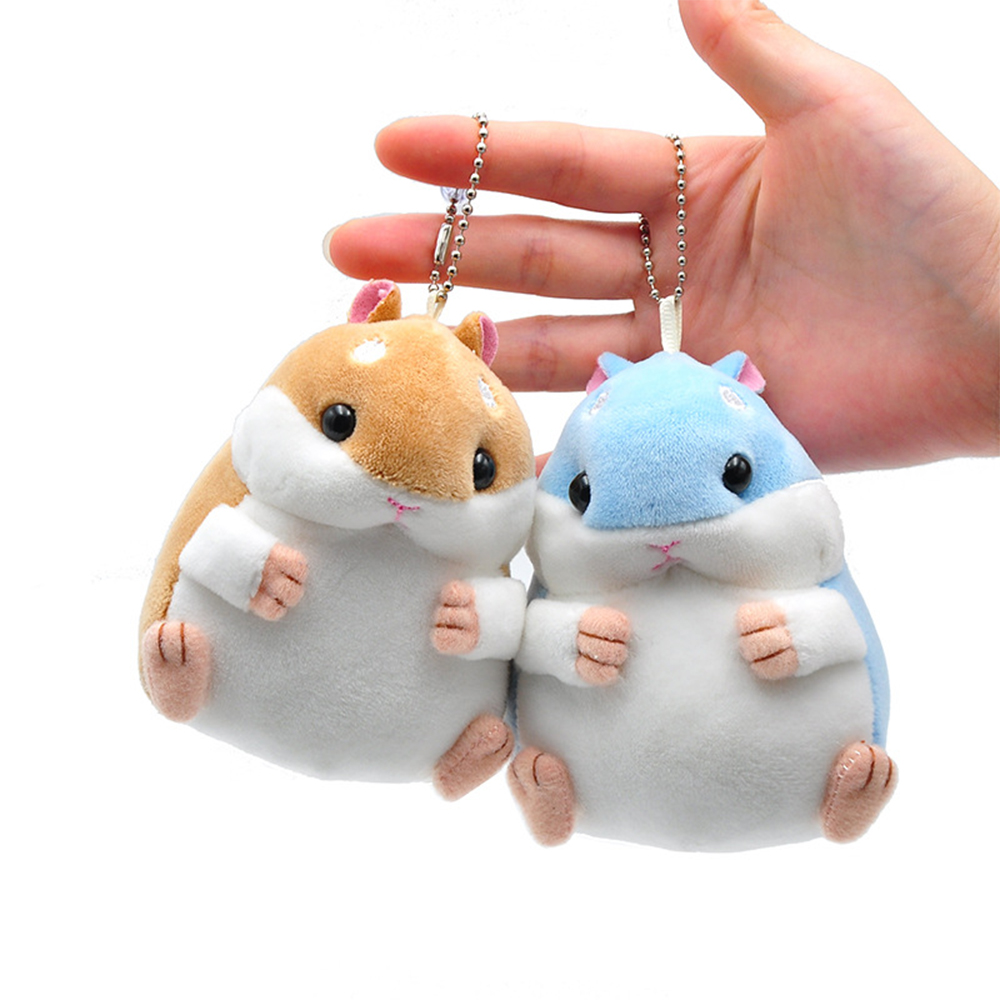Soft Plush Cartoon Animal Small Hamster Toy Doll Key Chain,stuffed Mouse Toy