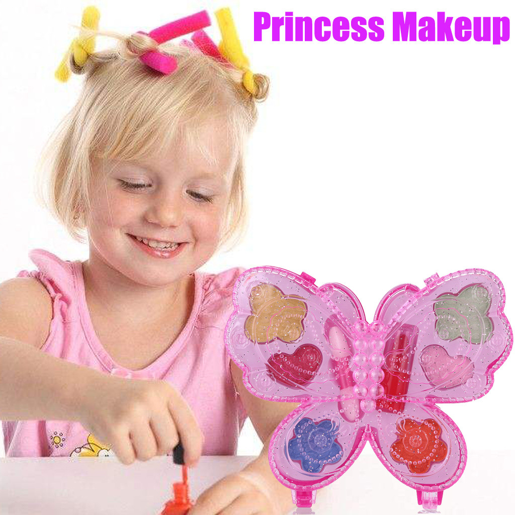 Princess Girl's Washable Makeup Toy NON TOXIC Deluxe Makeup Case Set For Girls Kids Toys Brinquedos Juguetes игрушки New Arrival