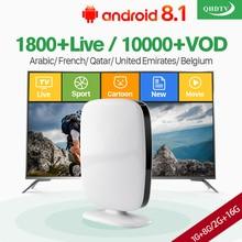 Arabic French IPTV Subscription IP TV RK3229 Quad Core Android Box Belgium Netherlands Algeria Lebanon Tunisia