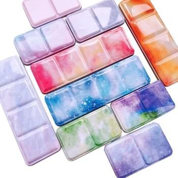 Przenośne stałe akwarela żelazne pudełko 24 kolor akwarela pudełeczko akwarela puste żelazne pudełko dostaw sztuki tanie i dobre opinie TAOMAI CN (pochodzenie) Metal 6 lat rectangle 12x7x2cm 22x7x2cm SH2-22