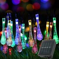 Guirnalda de luces LED impermeables para exteriores, lámpara Solar de 6/5/3m, 30/20/10 LED, para fiestas navideñas, jardín