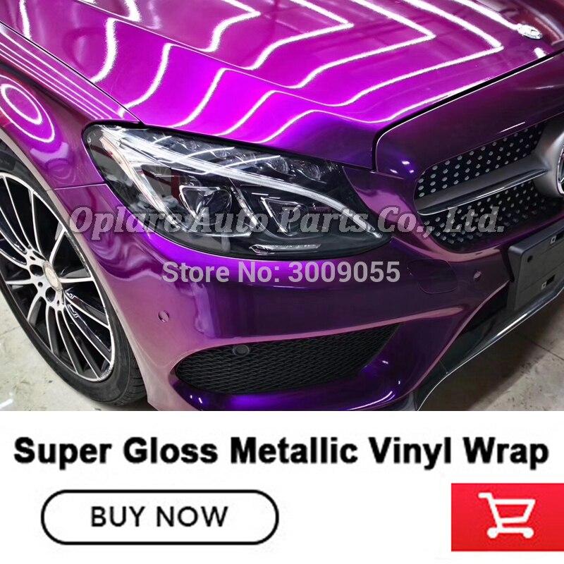 Film d'emballage de peinture métallique en vinyle métallique super brillant de la plus haute qualité - 2