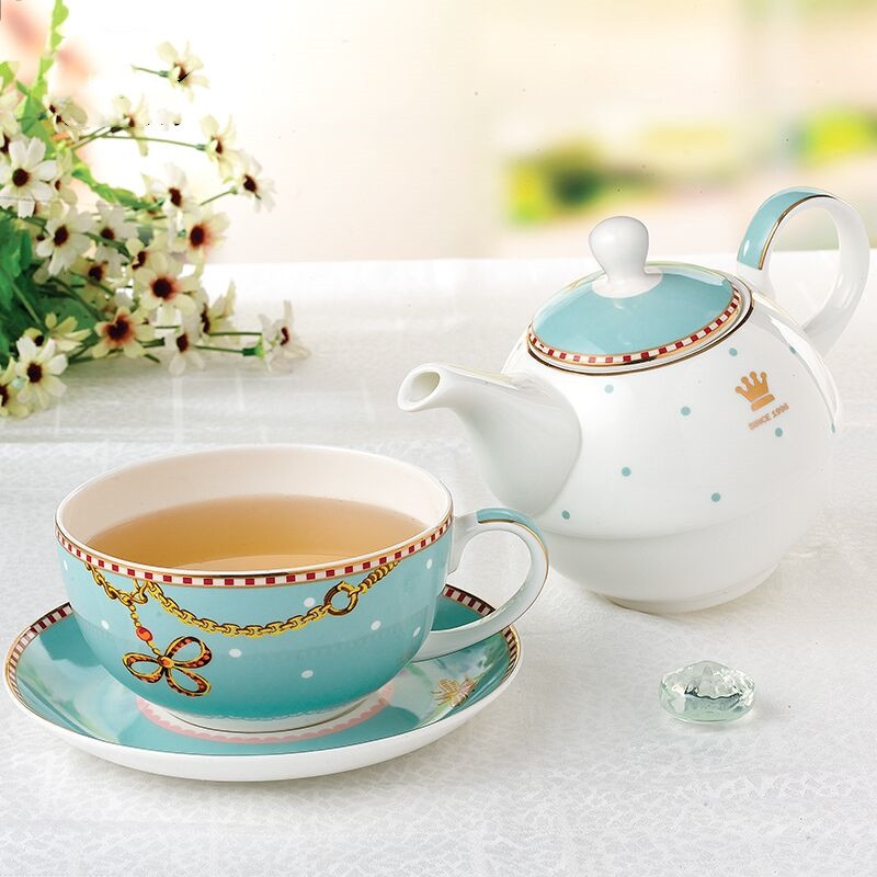 Ceramic Coffee Mugs & Pot Set Creative Breakfast Milk Coffee Cup Drinkware Tea Cup Eco-Friendly European Tea Set Wedding Gift