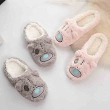 Women Indoor Home Plush Soft Cotton Slippers Shoes Non-Slip Floor Slippers Girls House Shoes Indoor Bedroom Slippers Pantufa lcizrong women brown bear plush home slippers non slip large size family animal slipper woman indoor shoes house slippers