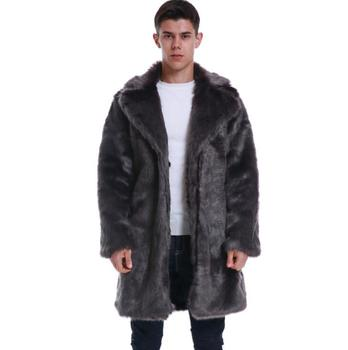 Autumn winter long faux mink leather jacket mens thicken fur leather coat men slim jackets jaqueta de couro fashioro fashion autumn faux mink leather jacket mens winter thicken warm fur leather coat men slim jackets jaqueta couro fashion big fur collar
