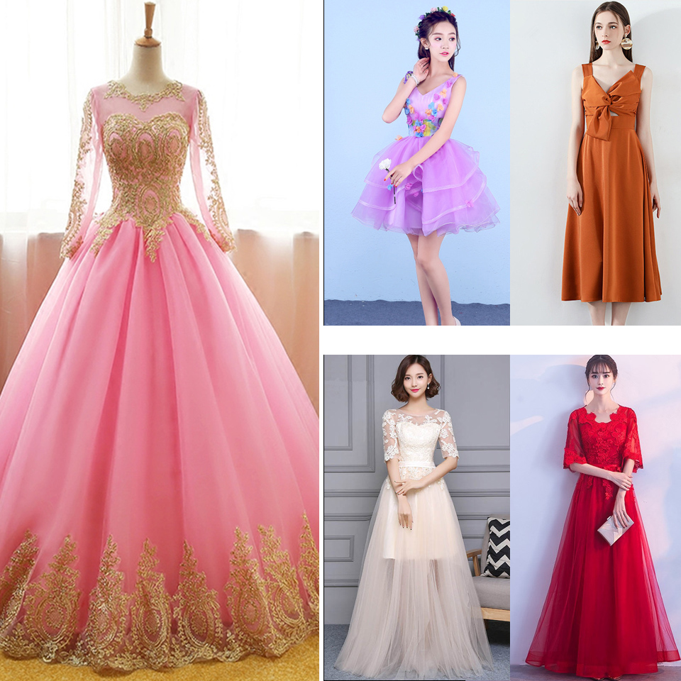 In Stock   Prom     Dresses   Embroidery Lace Sleeveless O-neck Women Party   Dress   LX096 Prm   Dresses   More Style Clearance