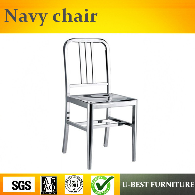 Free shipping Free shipping U-BEST Triumph Navi stainless steel regular model chair / Metal kitchen side chair