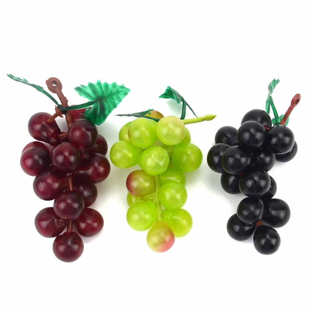 Mini Artificial Plastic Simulation Fruit Grape Wedding Decoration Home Kitchen Christmas Gift Clip Accessories