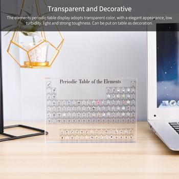 Akrylowe elementy chemiczne wyświetlacz biurka okresowy wystrój stołu elementy oprawione dla studentów nauczyciele prezent rzemiosło artystyczne tanie i dobre opinie
