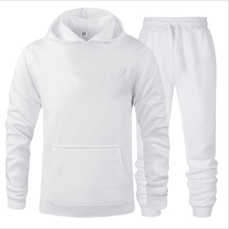 New Men Hoodies Suit Tracksuit Printing Sweatshirt Suit Fleece Hoodie Sweat Pants Jogging Homme Pullover 3XL Sporting Suit