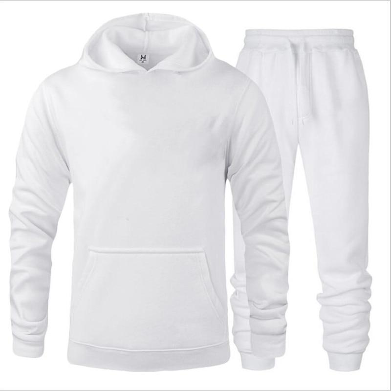 New Men Hoodies Suit Tracksuit Printing Sweatshirt Suit Fleece Hoodie Sweat Pants Jogging Homme Pullover 3XL Sporting Suit