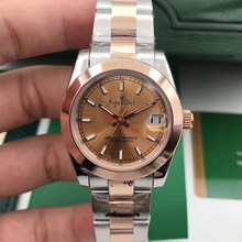 Luxury Brand Stainless Steel Sapphire Watch Women Lady Smooth Bezel Automatic Mechanical Diamond Rose Gold Black Datejust 31mm(China)