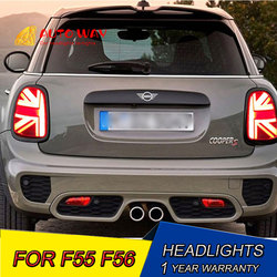Car Styling LED taillight 2014-2016 Case for F55 F56 F57 tail lights for BMW mini F55 F56 F57 cooper LED rear lamp tail LED lamp