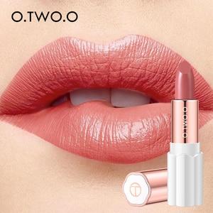 Image 1 - O.TWO.O Semi Velvet Lipstick Nude Rich Color Waterproof Moisturizing Long Lasting Lightweight Lips Makuep 12 Colors
