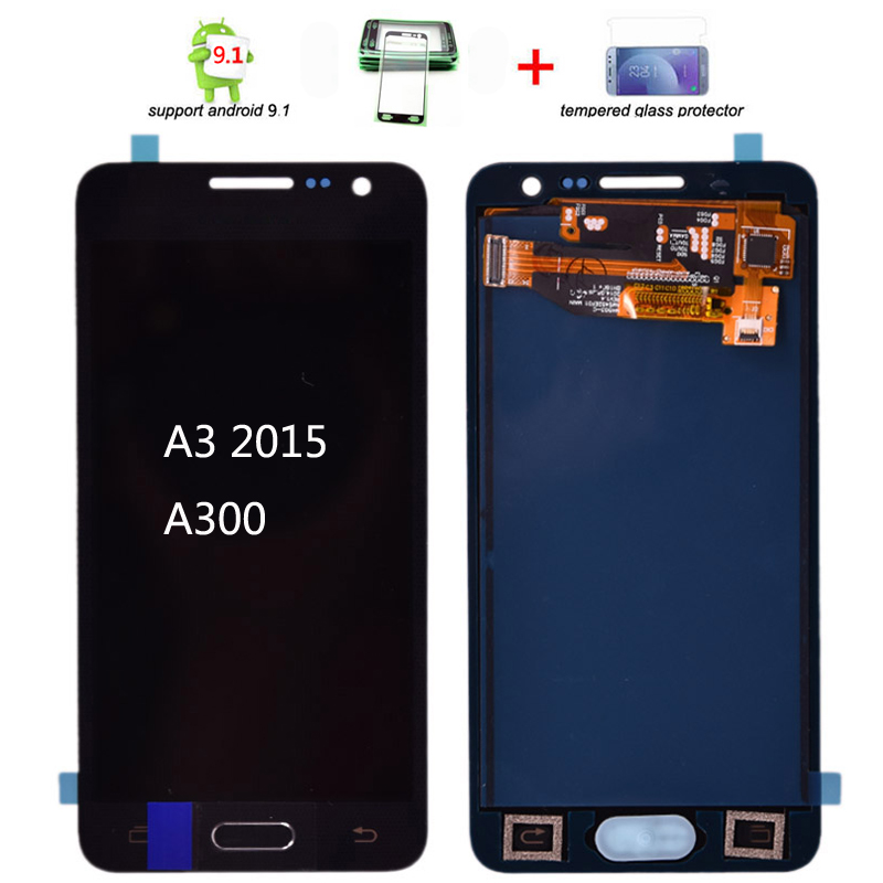 For <font><b>Samsung</b></font> Galaxy A3 2015 <font><b>A300</b></font> A300H A300F A300M <font><b>lcd</b></font> Display with Touch Screen Digitizer with home button image