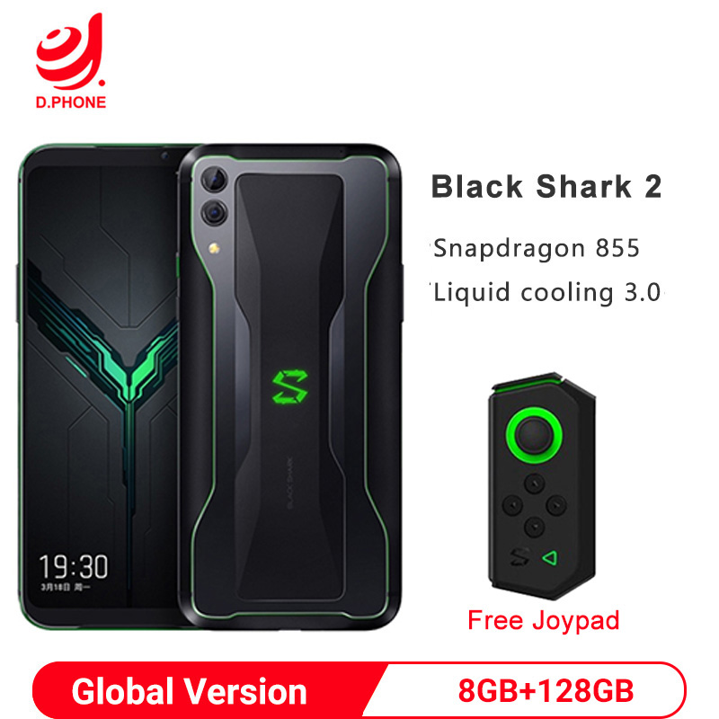 Original Global Version Xiaomi Black Shark 2 8GB 128GB Gaming Smartphone Snapdragon 855 6.39