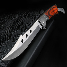 XUAN FENGกลางแจ้งมีดพับWild Survivalมีดยุทธวิธีมีดล่าสัตว์มีดเหล็กความแข็งสูงมีดล่าสัตว์