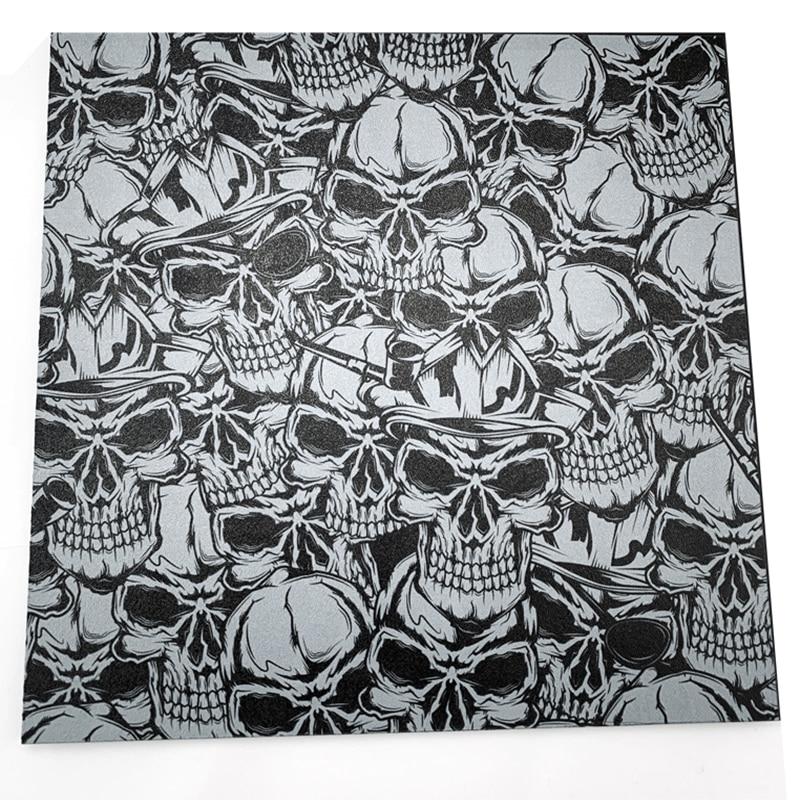 Skull Pattern KYDEX Plate Bar Block Knife K Sheath Waist Clip 300*300*1.5mm 2.0mm