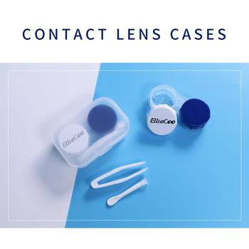 Eliecoo przezroczyste niewidoczne pudełko do przechowywania oczu soczewki kontaktowe podwójne pudełko pincety przyssawka praktyczne plastikowe klasy medycznej tanie i dobre opinie EllieCoo CN (pochodzenie) About 7g None 20mm 42mm Medical Grade Plastic 60mm