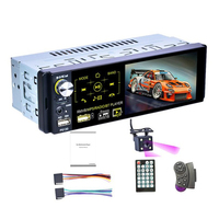 1Din Car Radio 4.1 Inch Press Screen Audio Stereo Multimedia Mp5 Player Bluetooth Am / Fm / Rds Radio Rear Camera