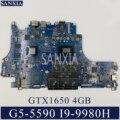 KEFU VULCAN17_N18P материнская плата для ноутбука Dell Inspiron G5 15-5590 оригинальная материнская плата I9-9980H GTX1650-4GB