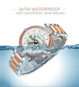Image 5 - KADEMAN montre de luxe pour femmes, montre Bracelet LCD, numérique, élégant, de marque, à la mode, pour filles, nouvelle collection de cadeaux