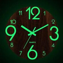 Veilleuses Non coutil facile à lire à piles pratique bureau lumineux horloge murale décor à la maison arabe numéro chambre