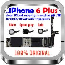 Odblokuj płytę główną dla iphone 6 plus 16GB 64GB 128GB płyta główna oryginalna płyta główna bez/z touch ID dla iphone 6 P