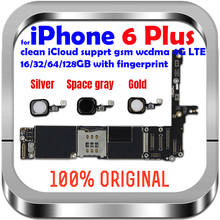 Unlock Motherboard for iphone 6 plus 16GB 64GB 128GB  logic board original mother board without / with touch ID for iphone 6P